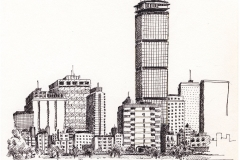 "Boston Skyline (6"" x 9"")"